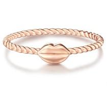 Ring Kussmund Sterling Silber roségold Ringe