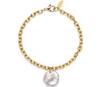 -Armband Edelstahl Süßwasser Roségold 32018140
