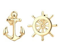 Ohrringe Anker Steuerrad Maritim Sailor Filigran 925 Silber