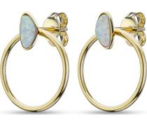 -Creolen 925er Silber 2 Opal One Size 88176685