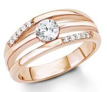 Ring für, Sterling Silber 925, Zirkonia Ringe Weiss
