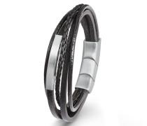 Leder ID-Armband für, Edelstahl und