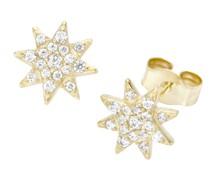 Ohrstecker Stern mit Zirkonia, Gold 375