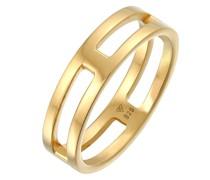 Ring Bandring Steg Massiv 925 Silber