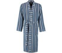 Bademantel Kimono Streifen 3835 aqua - 11