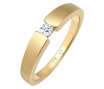 Ring Verlobungsring Diamant (0.11 ct.) 585 Gelbgold