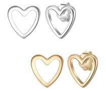 Schmuckset Sterling Silber in Silber/Gelbgold