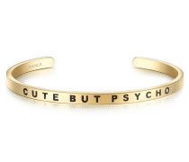 Armband CUTE BUT PSYCHO Edelstahl gelbgold