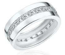 Ring Sterling Silber Zirkonia weiß