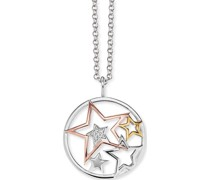 -Kette 925er Silber rhodiniert Zirkonia One Size 87576256
