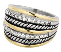 Ring Edelstahl Preciosa silber/gelbgold