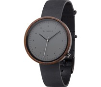 Unisex-Uhren Analog Quarz Schwarz 32001775