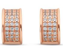 Silver-Creolen 925er Silber 66 Zirkonia Gold Gold 32010626