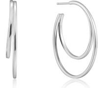 -Creolen Crescent Hoop 925er Silber One Size 87994562