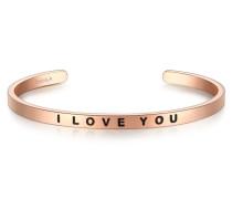 Armband I LOVE YOU Edelstahl roségold