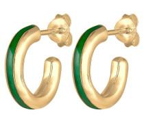 Ohrringe Creolen Hänger Emaille Edel 925 Sterling Silber