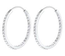 Ohrringe Creolen Kristall Funkelnd 925 Silber