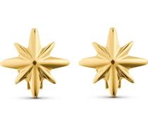-Ohrstecker Ohrschmuck Polarstern 375er Gelbgold One Size 87999238