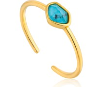 -Damenring Turquoise Adustable Ring 925er Silber Türkis One Size 87994821