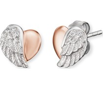 -Ohrstecker 925er Silber rhodiniert, rhodiniert Zirkonia One Size 87635112