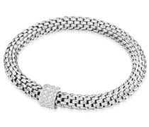 Armband Edelstahl Glas silber Modeschmuckarmband