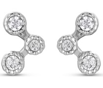 -Ohrstecker 925er Silber 6 Zirkonia One Size 87996417