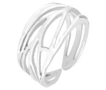 Ring Blatt Ornament Wickelring 925 Silber