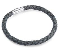 Armband Echtleder blaugeflochten