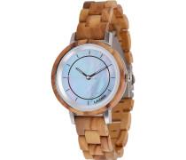 -Uhren Analog Quarz Olivenholz Holz 32015171