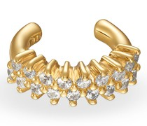 -Ear Cuff Ear 925er Silber 18 Zirkonia Gelbgold 32013337