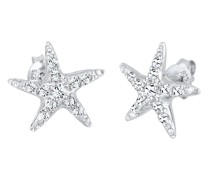 Ohrringe Seestern Maritim Swarovski® Kristalle 925 Silber
