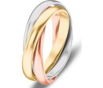 Gold-Damenring 585er Gelbgold, Weißgold, Rotgold 60 32005753