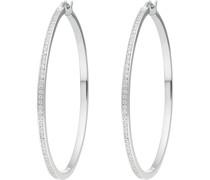 Silver-Creolen 925er Silber 116 Zirkonia One Size 87096742