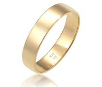 Ring Bandring Trauring Basic Hochzeit Paar 585 Gelbgold