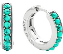 -Creolen 925er Silber 18 Steinsynthetisch Blau 32013842