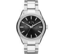 -Uhren Analog Quarz Silberfarben Edelstahl 32010699