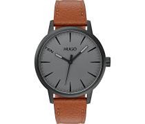 Hugo-Uhren Analog Quarz One Size Leder 87644707