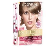 172 ml  Nr. 7.1 - Mittelaschblond Creme Color Haarfarbe