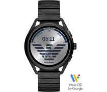 Armani Connected-Smartwatch Akku One Size Edelstahl 87922391