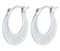 Ohrringe Creolen Hänger Strukturierter Look 925 Silber