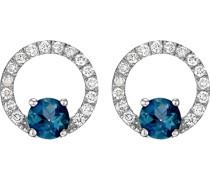 -Ohrstecker 375er Weißgold 32 Diamant One Size 87304019