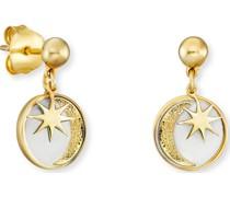 -Ohrstecker Ohrstecker Sonne, Mond & Stern 925er Silber One Size 87928144