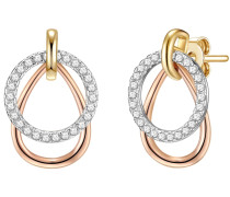Ohrhänger Sterling Silber rosévergoldet/rhodiniert Zirkonia weiß