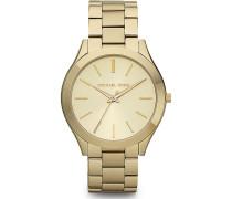 -Uhren Rund Analog Quarz Gold/Champagner Gold/Champagner Edelstahl 32002644
