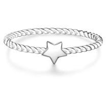 Ring Stern Sterling Silber silber