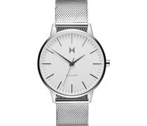 -Uhren Analog Quarz Silber/Weiß 32002086