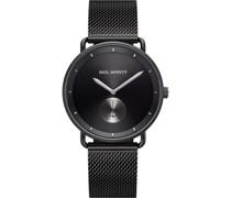-Uhren Analog Quarz Schwarz/Silber 32010526