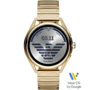 Armani Connected-Smartwatch Akku One Size Edelstahl 87922375