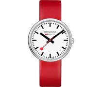 Unisex-Uhren Analog Quarz Rot 32015966