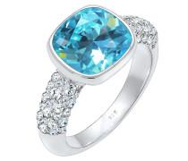 Ring Cocktailring Swarovski® Kristalle 925er Silber
